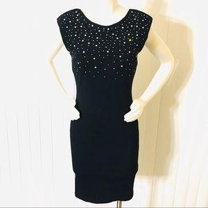 H&M black backless sequined sleeveless dress